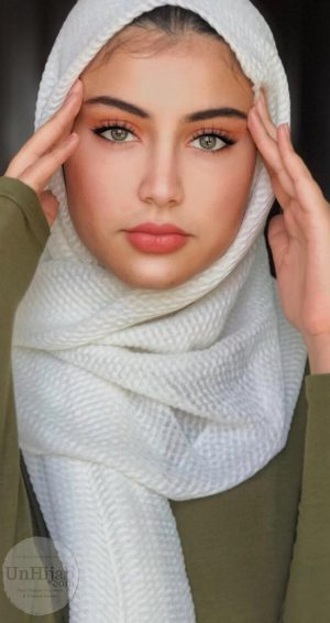 Hijab Plissé blanc