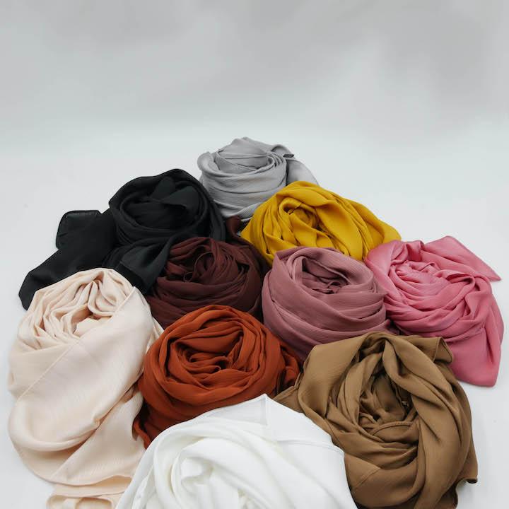 Hijab Satin Froissé
