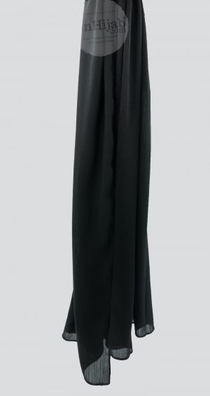 Hijab Satin Noir