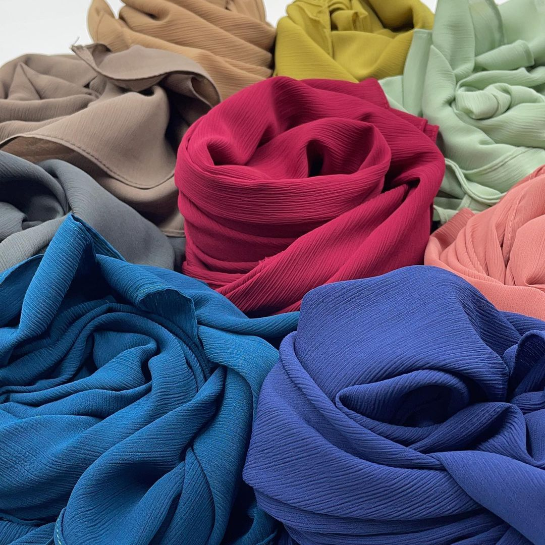 Hijab mousseline froissé