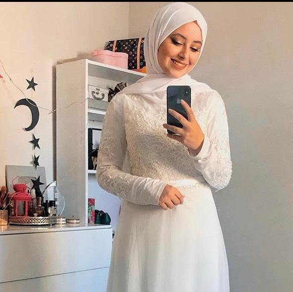 hijab Marriage mousseline Blanc